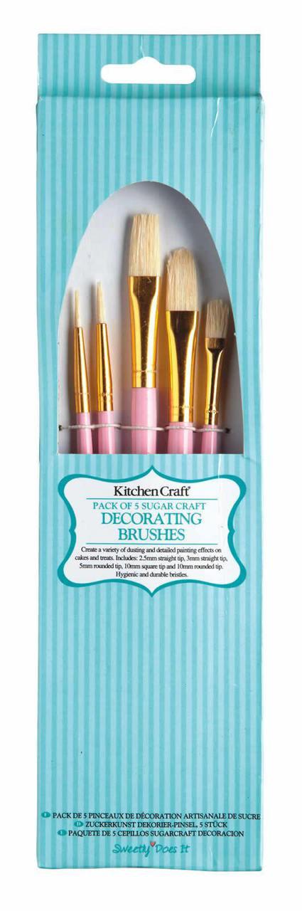 Sweetly Does it Pack of 5 Sugarcraft Decorating Brushes