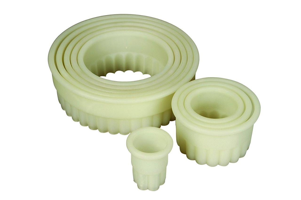 Mercer 9 Piece Round Fluted Nylon Cutter Set