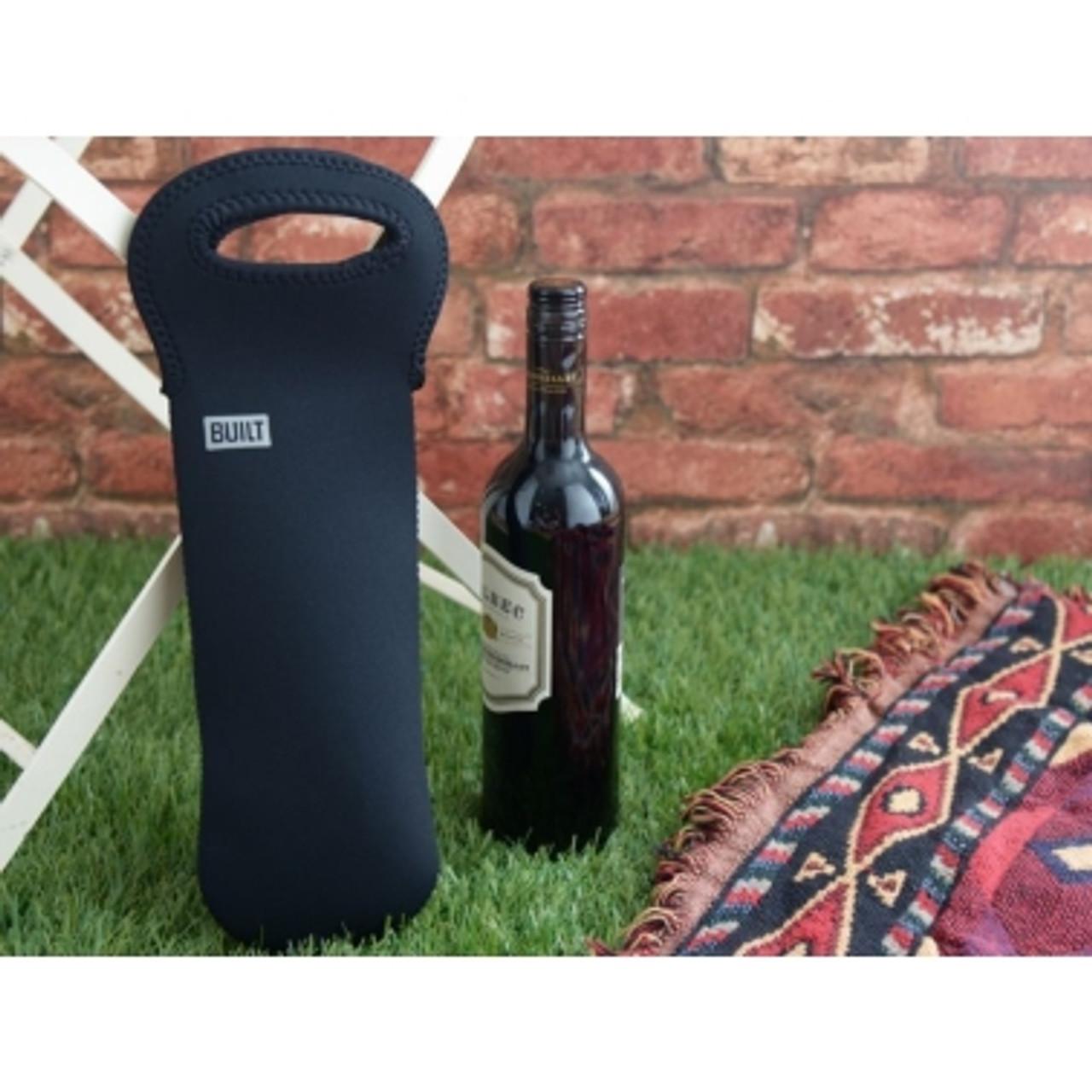 Built One Bottle Wine Tote Black