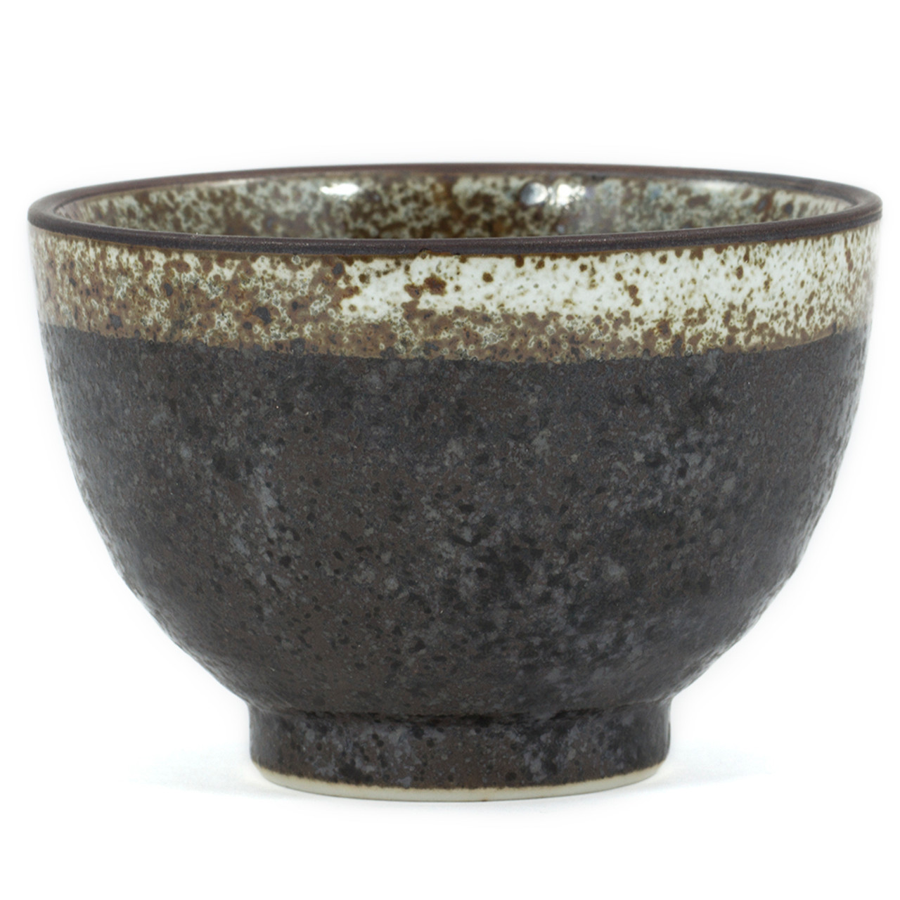 Black Speckled Tea Cup