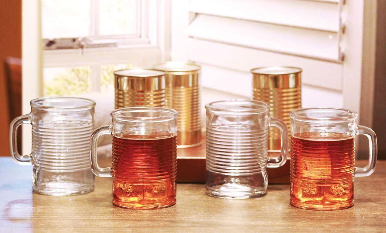 Glass Can Mug 480ml