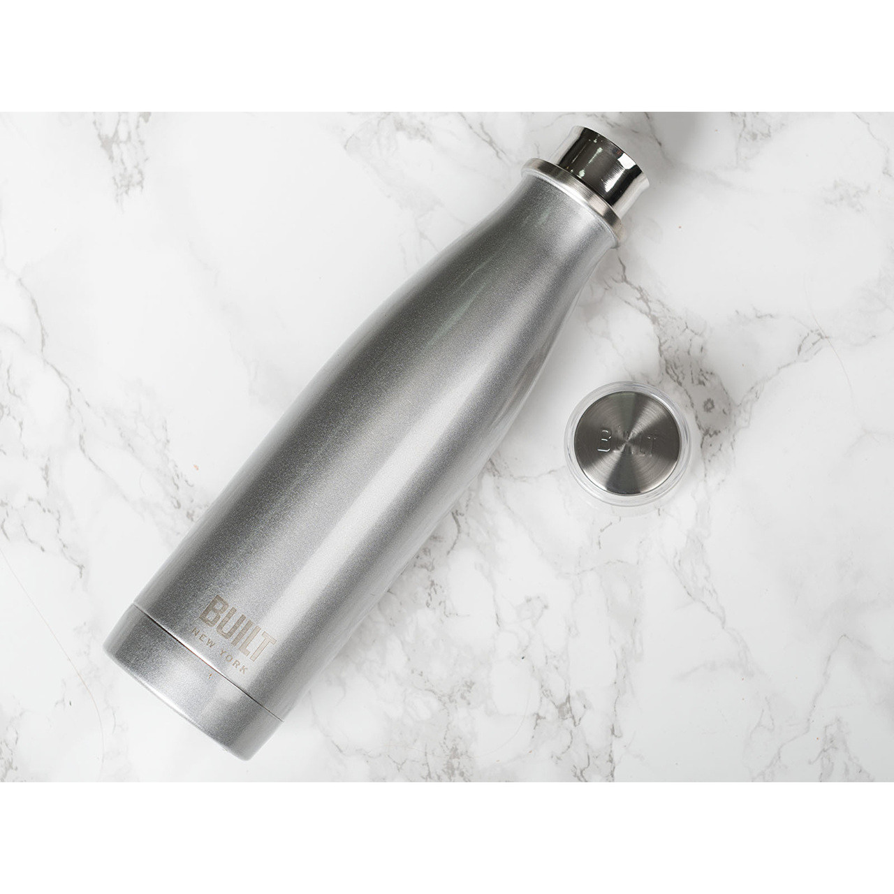 Double Walled Stainless Steel Water Bottle Silver