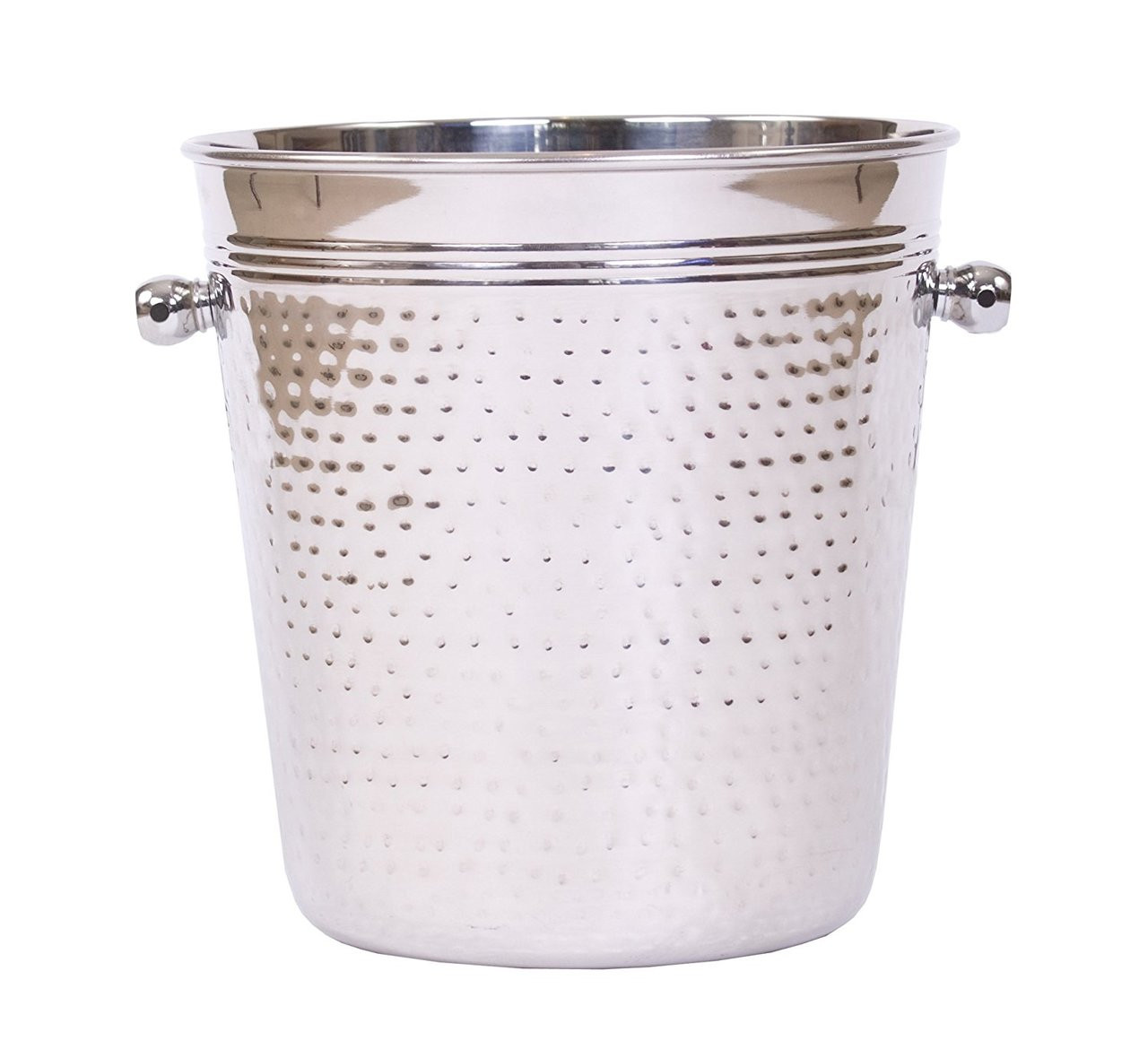 Stainless Steel Ice Bucket - Hammered Finish