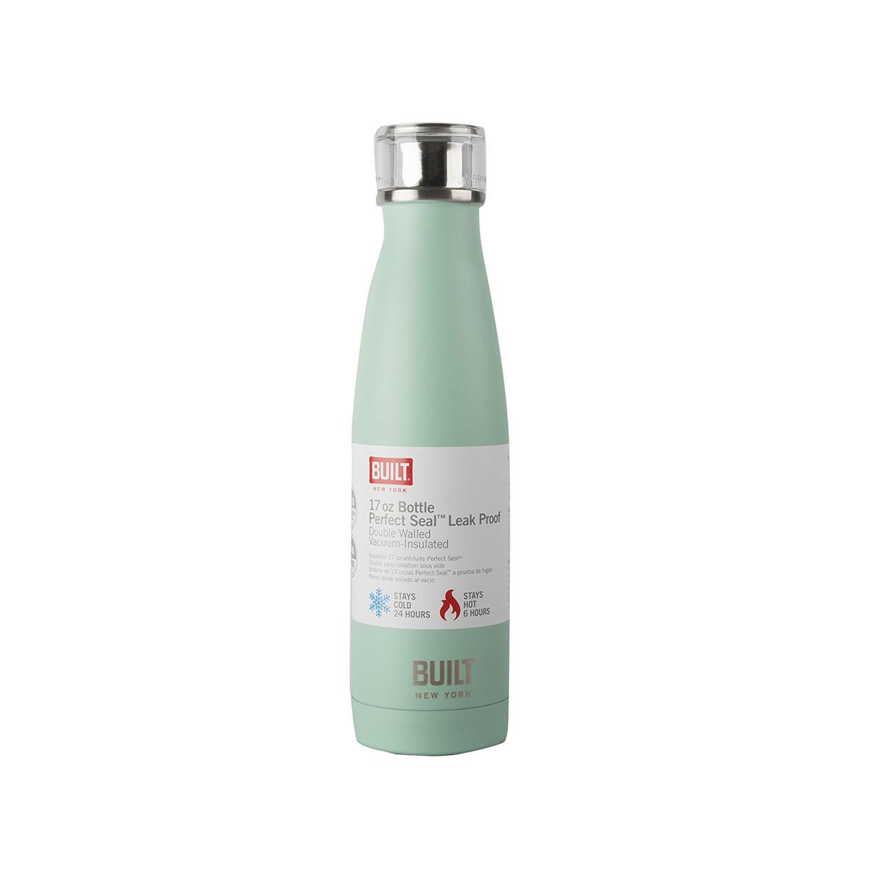 Built Double Walled Stainless Steel Water Bottle - 17oz Mint Green