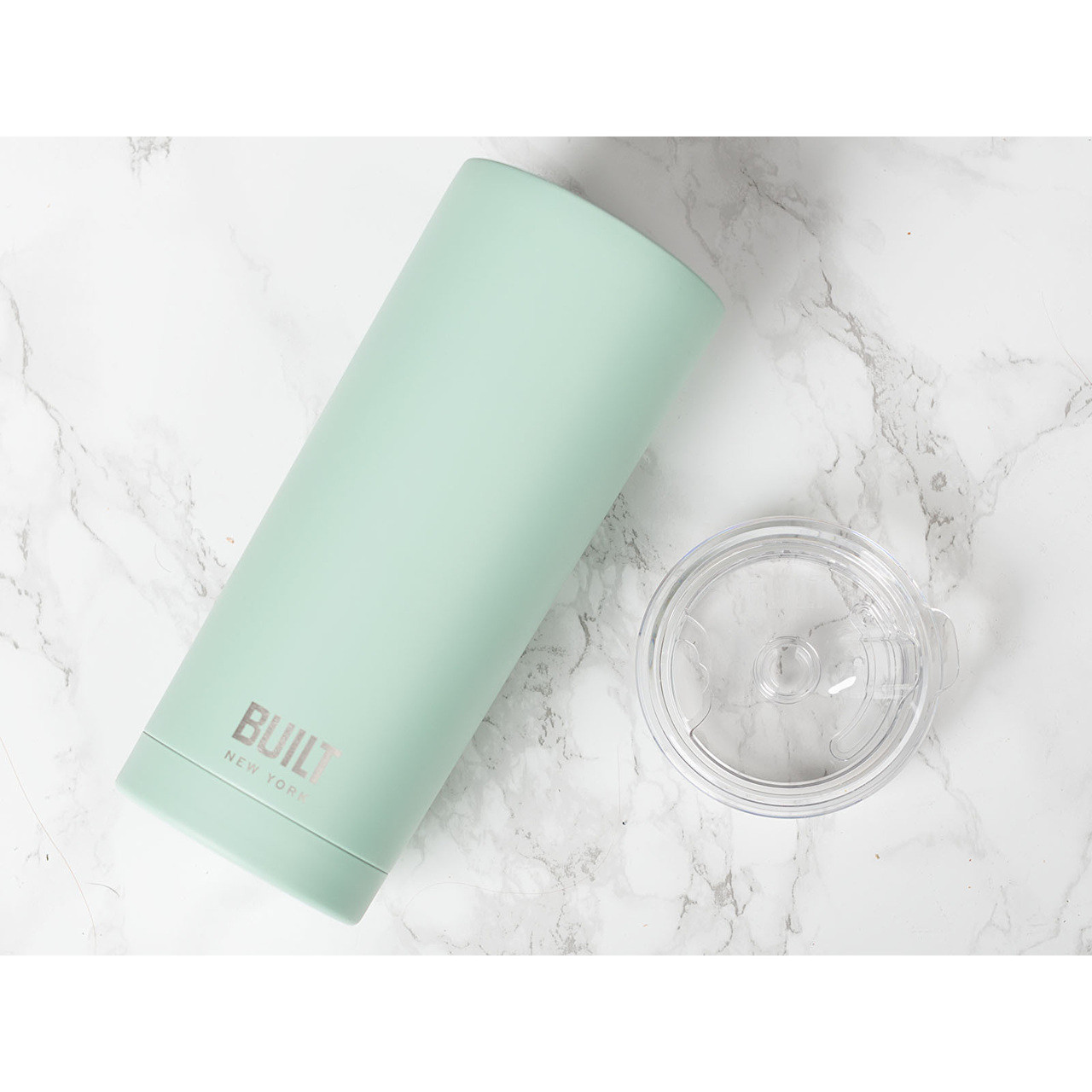 Built Double Walled Stainless Steel Tumbler - 20oz Mint Green