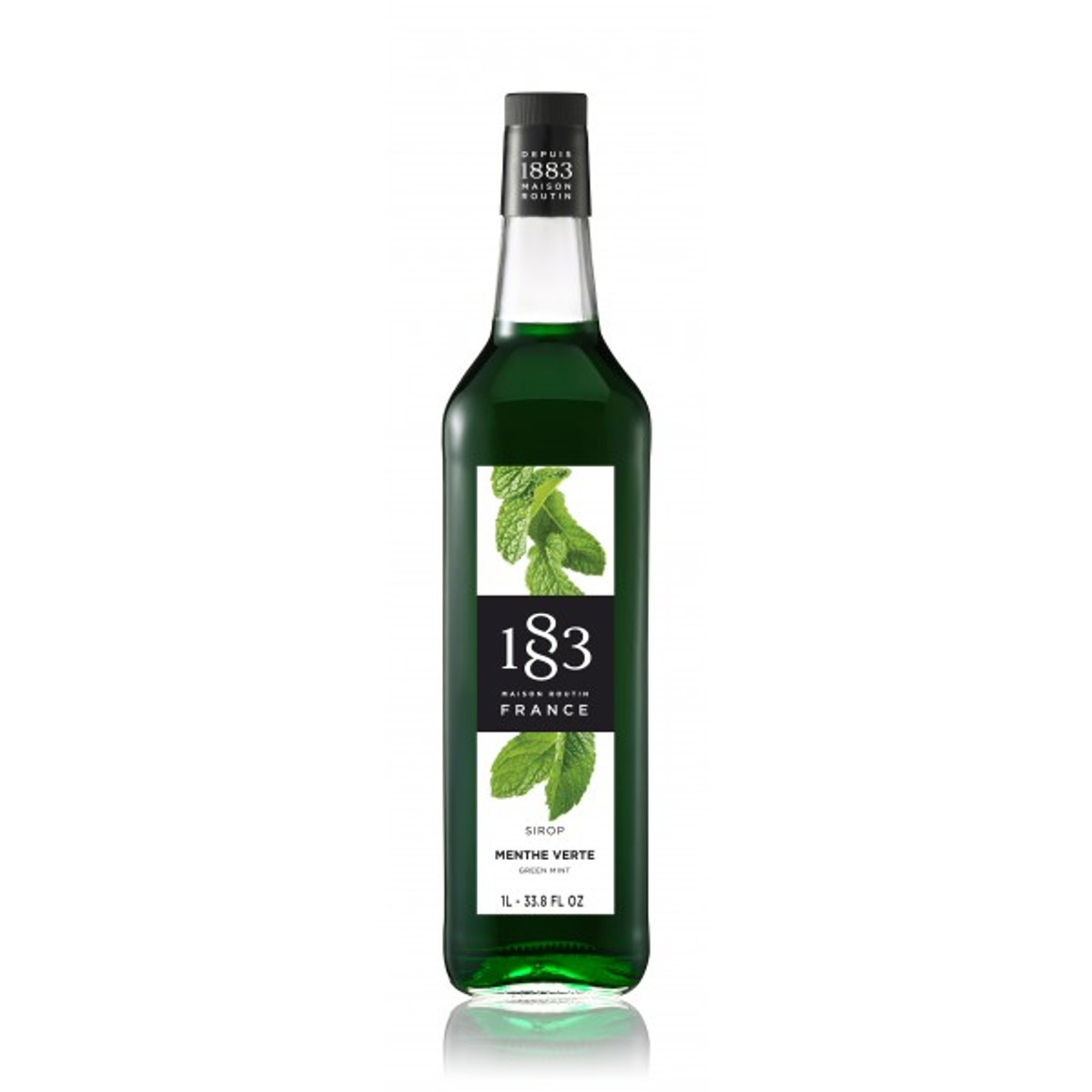 1883 Syrup Green Mint - 1L (Glass Bottle)