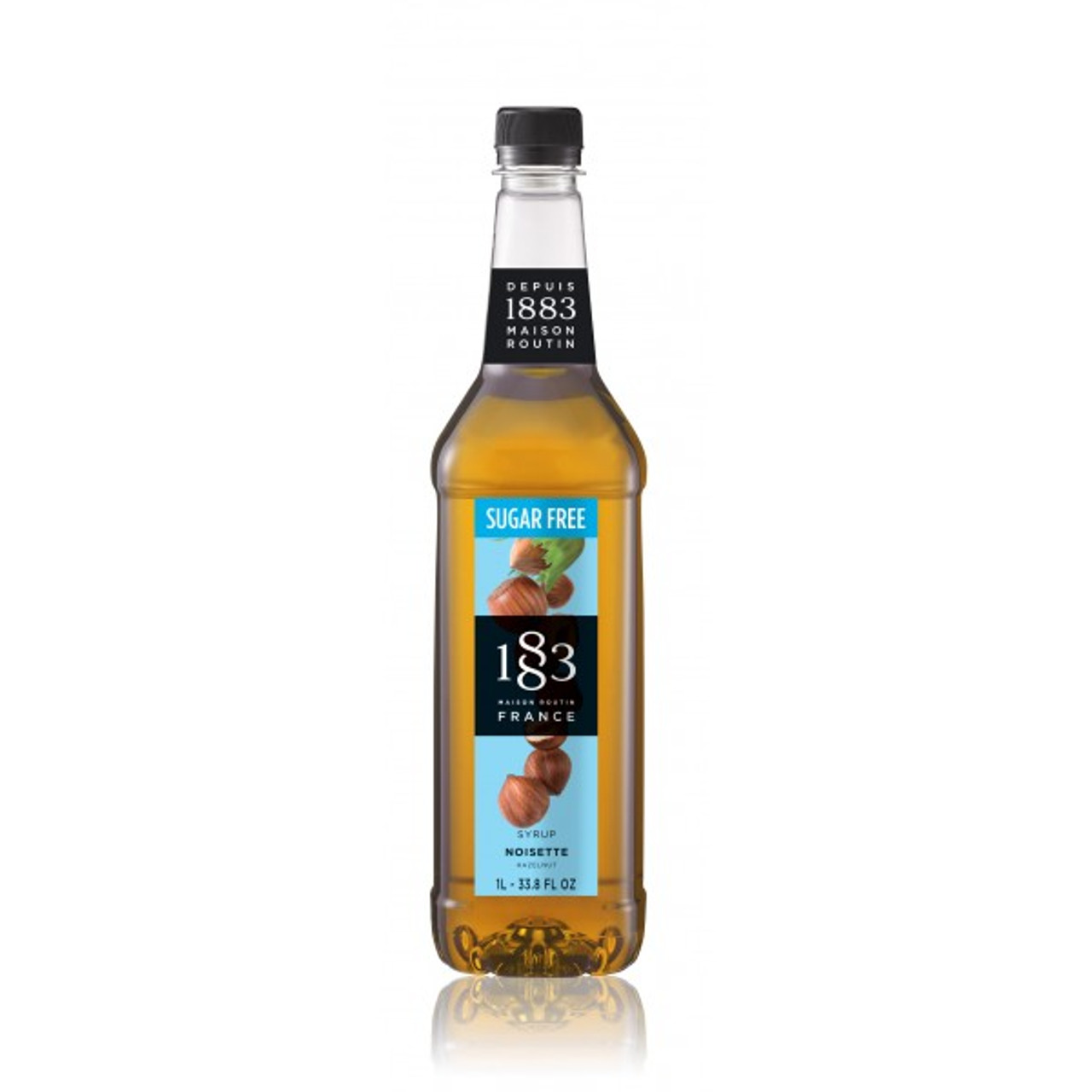 1883 Syrup Sugar Free Hazelnut 1L Plastic Bottle
