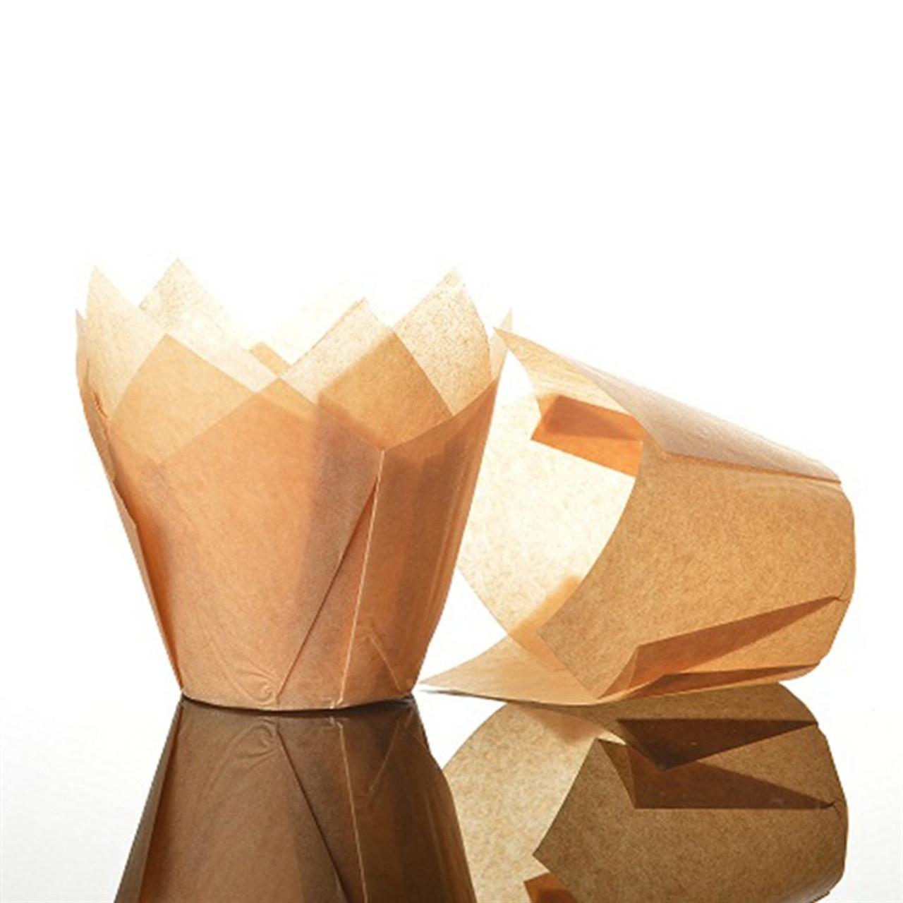TULIP CUPCAKE/MUFFIN CASES CARAMEL x50