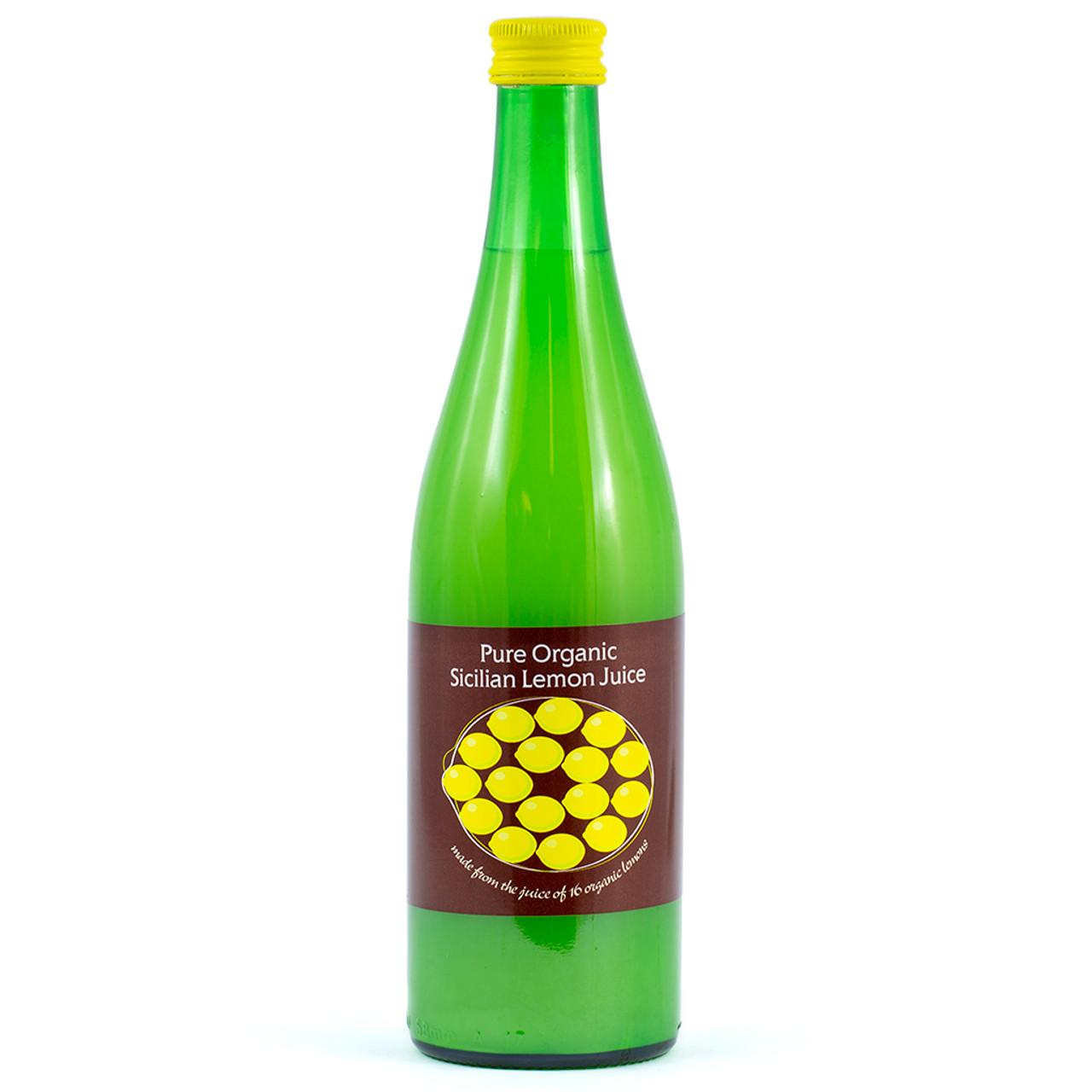 Pure Organic Sicilian Lemon Juice 500ml
