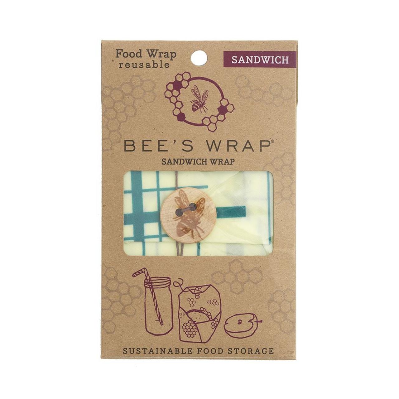 "Bee's Wrap Single Cover Geometric Teal 13"" x 13"""