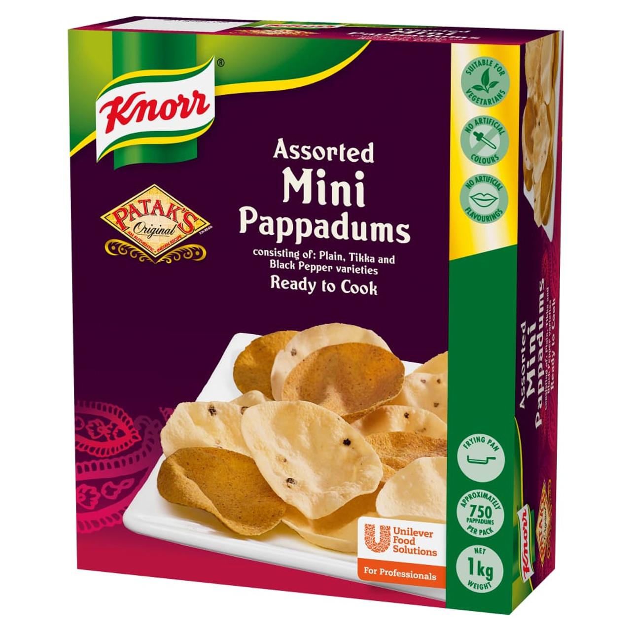 Knorr Mini Pappadums - 1kg