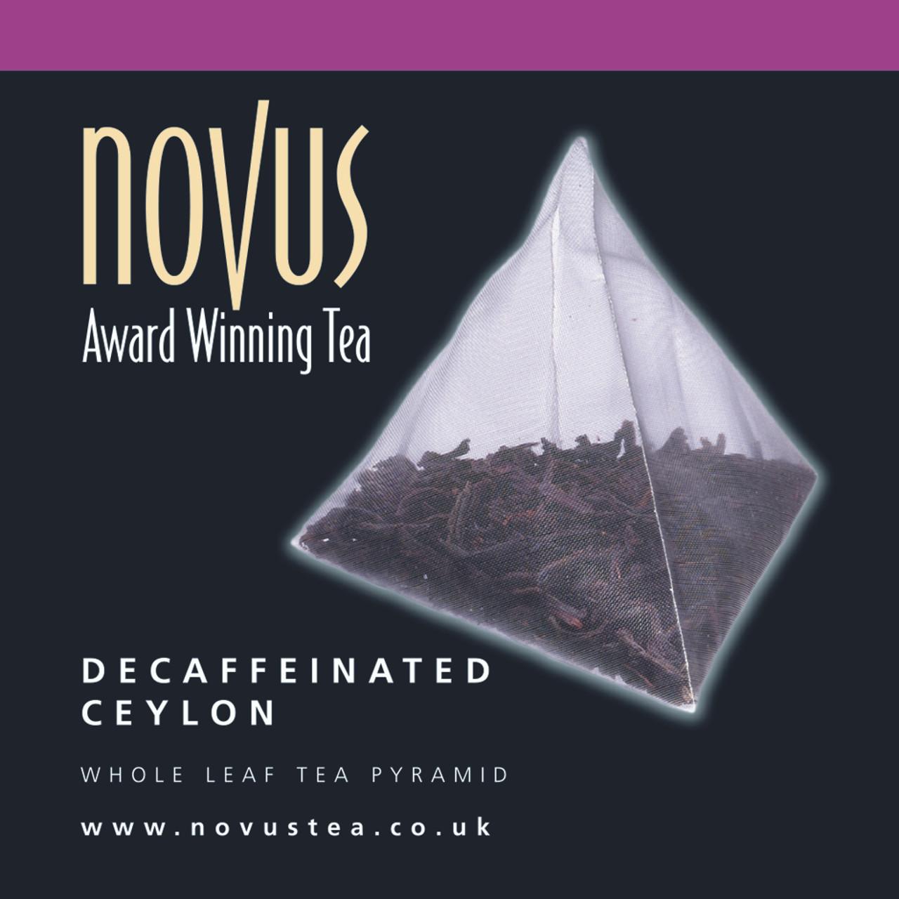 Novus Tea Decaffeinated Ceylon Foil Sachet x 50