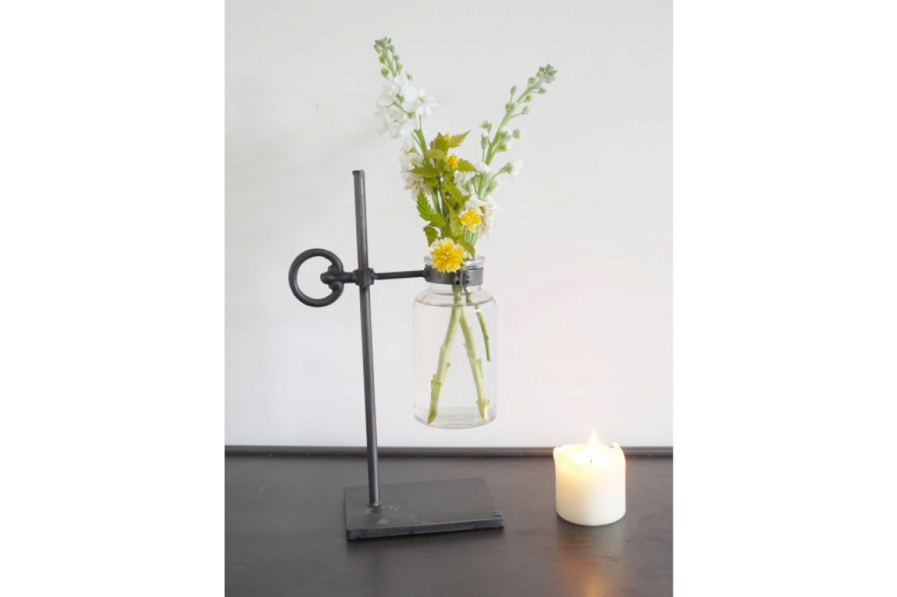 FLOWER HOLDER - GLASS JAR