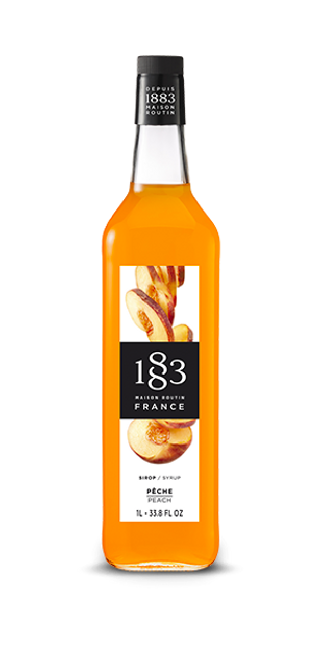 1883 SYRUP PEACH - 1L (GLASS BOTTLE)