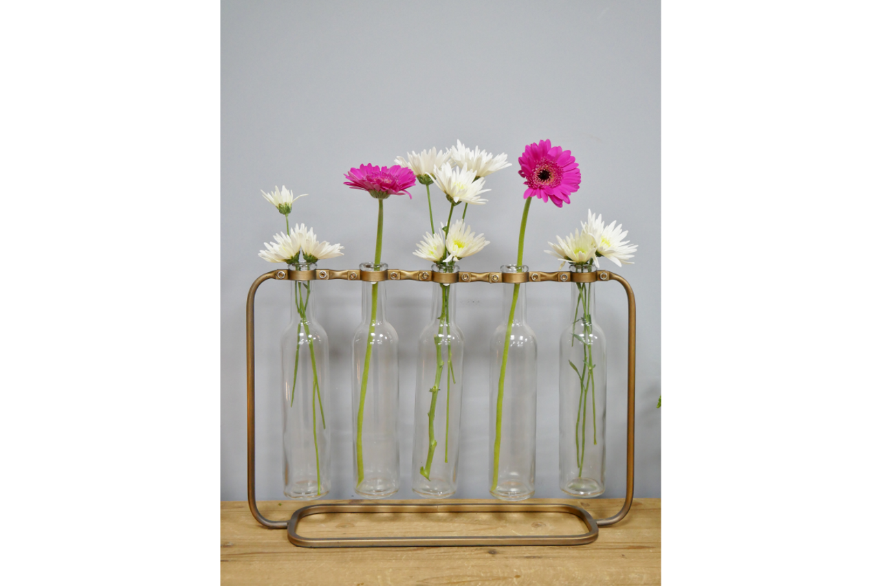 Flower Holder - Glass Bottles