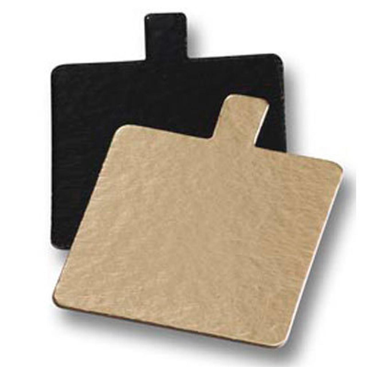 Mini Square Black & Gold Cake Cards