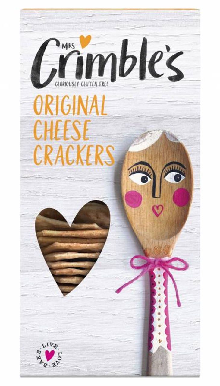 MRS CRIMBLES GLUTEN FREE CHEESE CRACKERS 130g