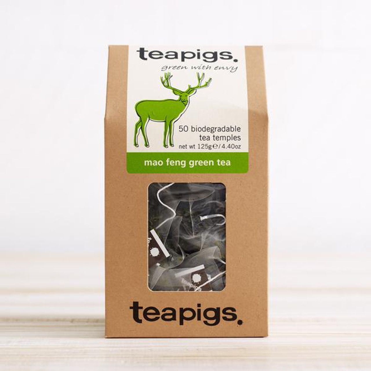 TEA PIGS MAO FENG GREEN TEA x 50 TEA TEMPLES