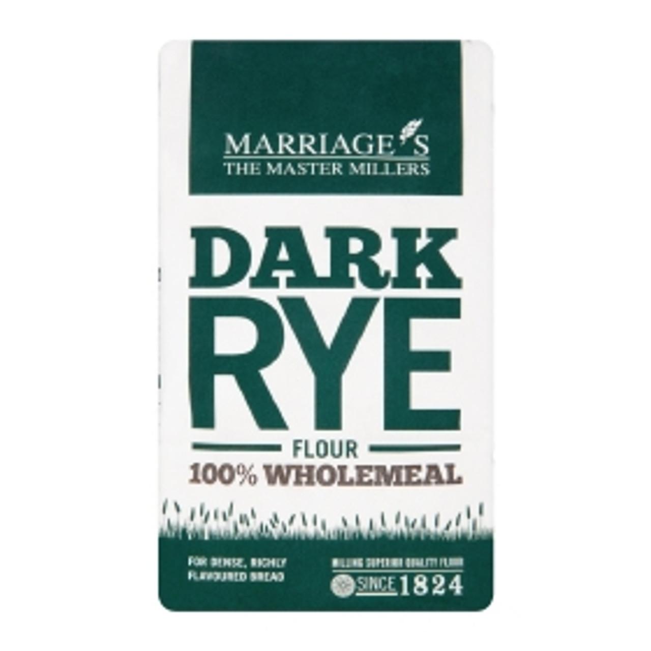 DARK RYE FLOUR 1kg W H MARRIAGE'S