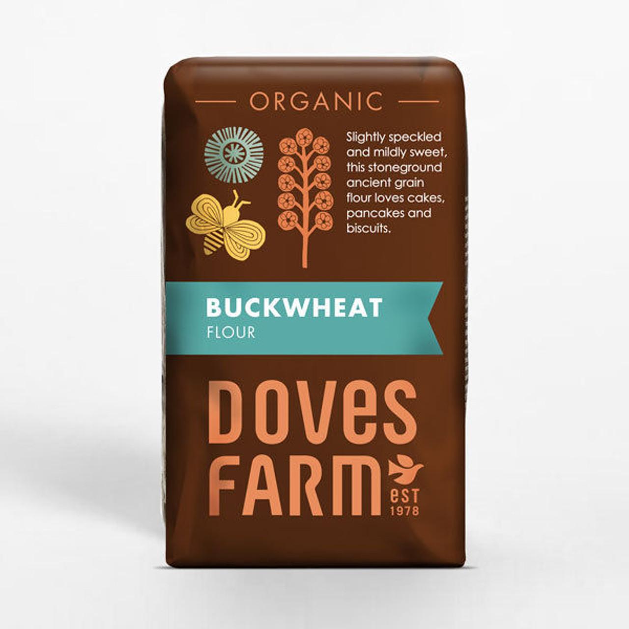 DOVES FARM - ORGANIC  WHOLEMEAL BUCKWHEAT FLOUR 1kg