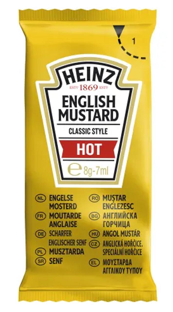 HEINZ HOT ENGLISH MUSTARD SACHETS x250