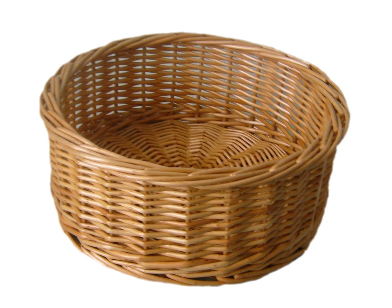 SMALL ROUND WILLOW BASKET 250 x 100mm
