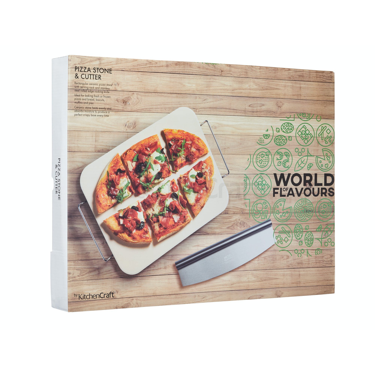 ITALIAN LARGE PIZZA STONE & CUTTER