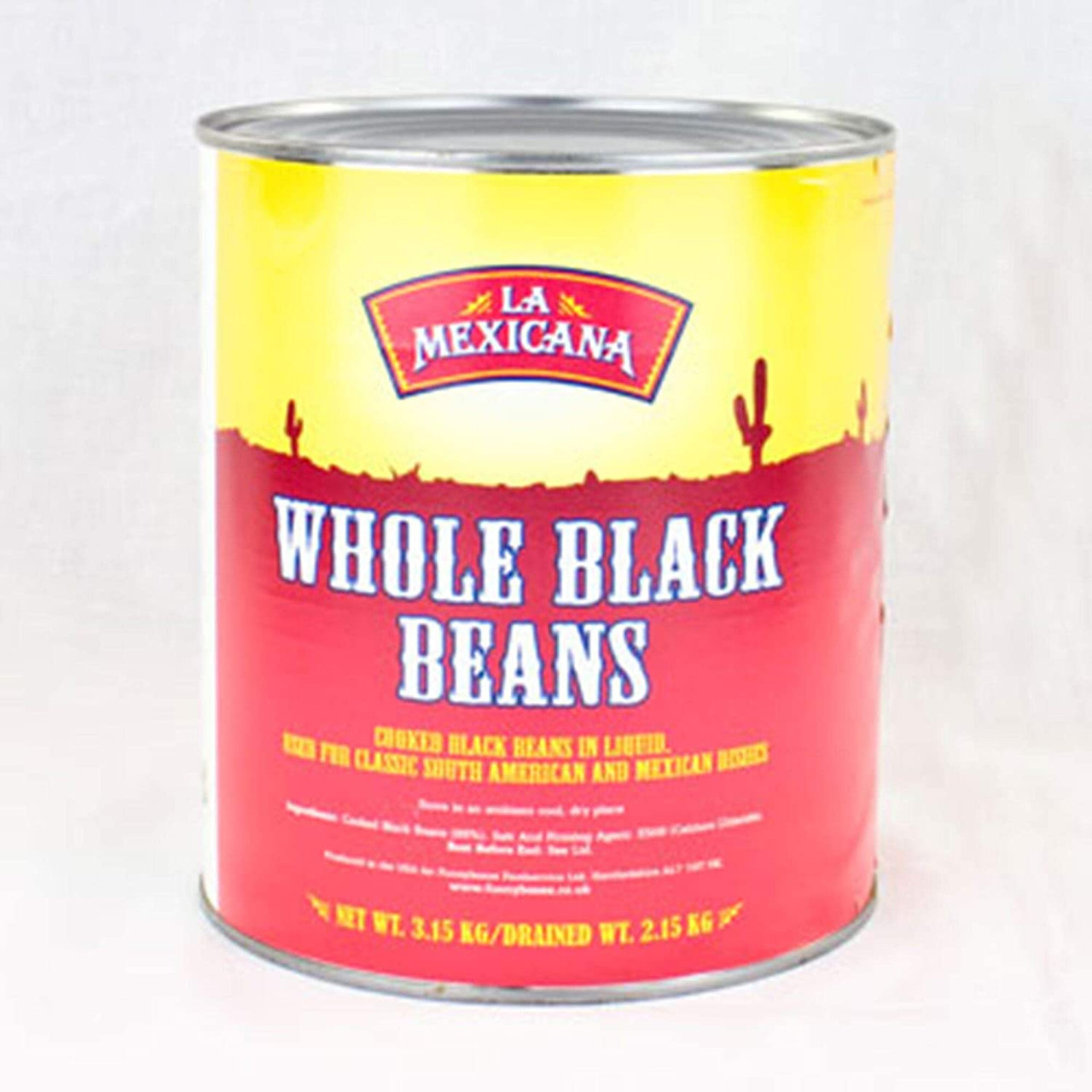 LA MEXICANA WHOLE BLACK BEANS IN BRINE 2.5kg