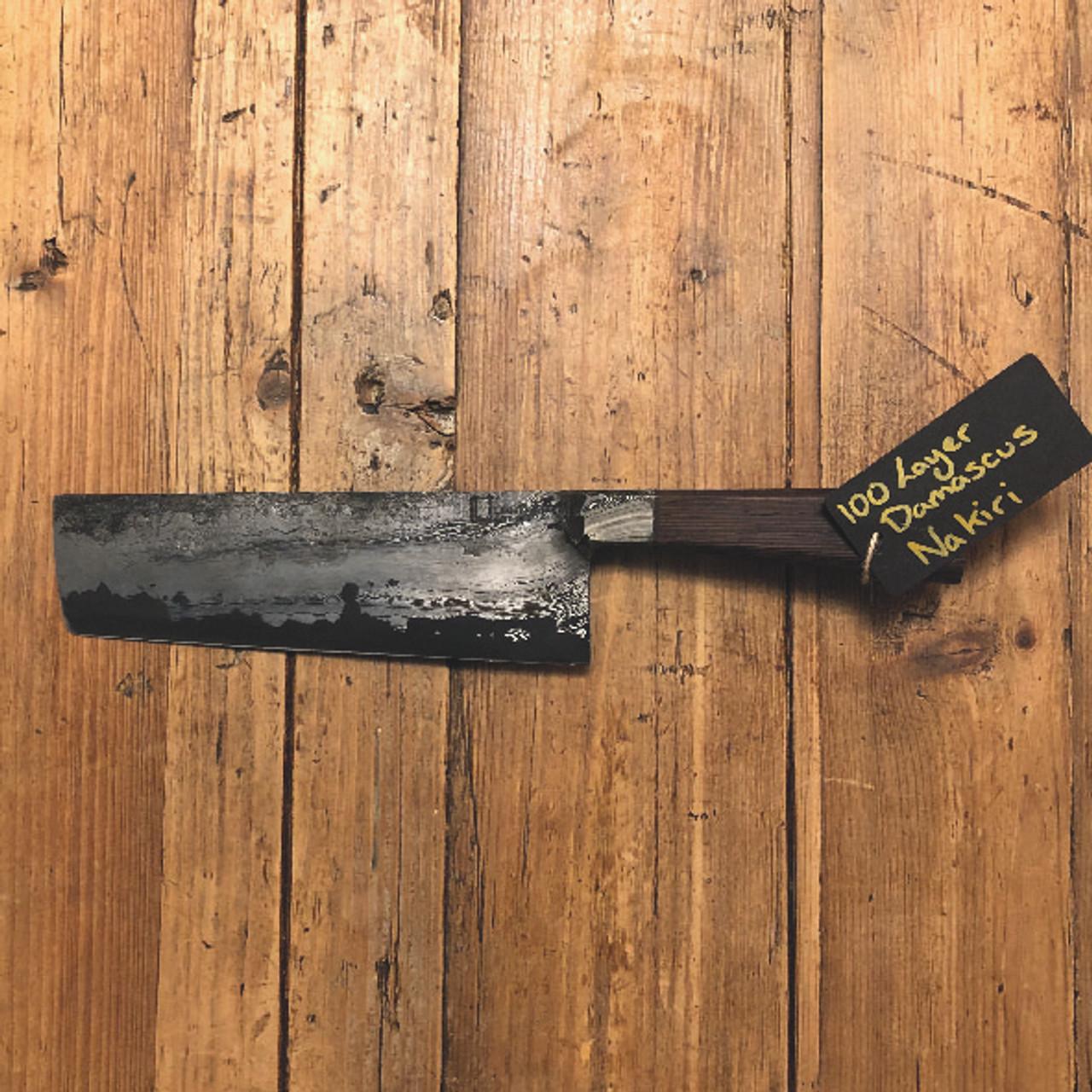 Damascus Nakiri Knife - Wenge Wood by Leszek Sikon