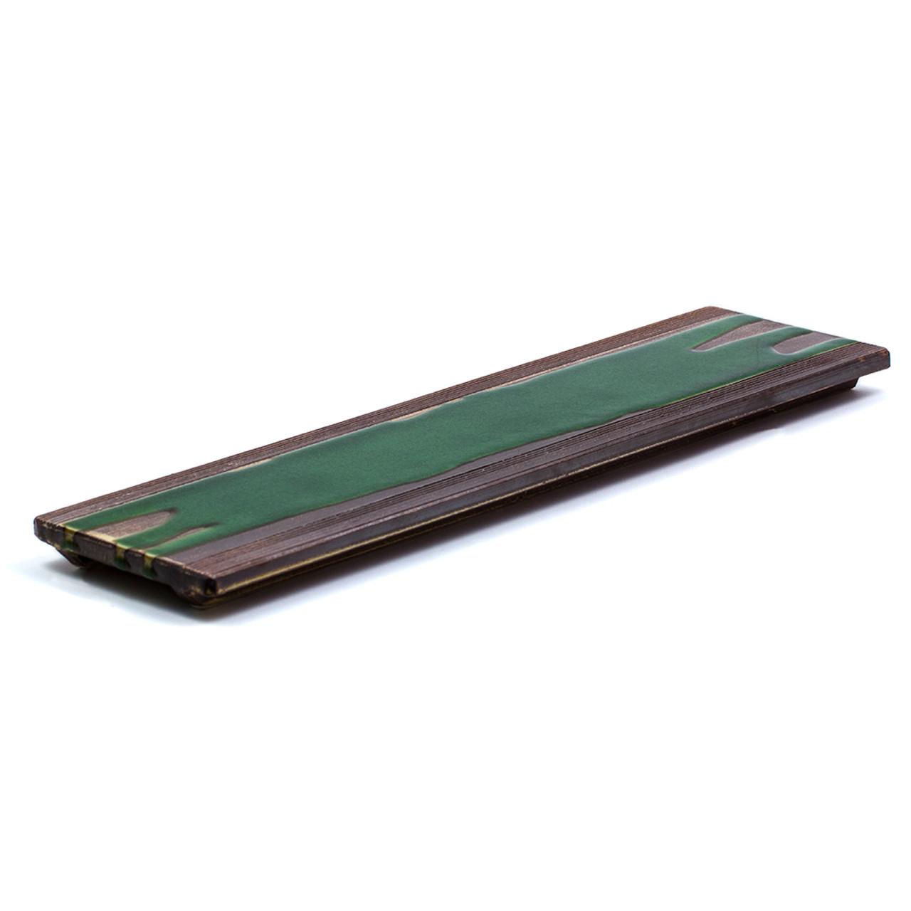 Rectangular Brown & Green Plate