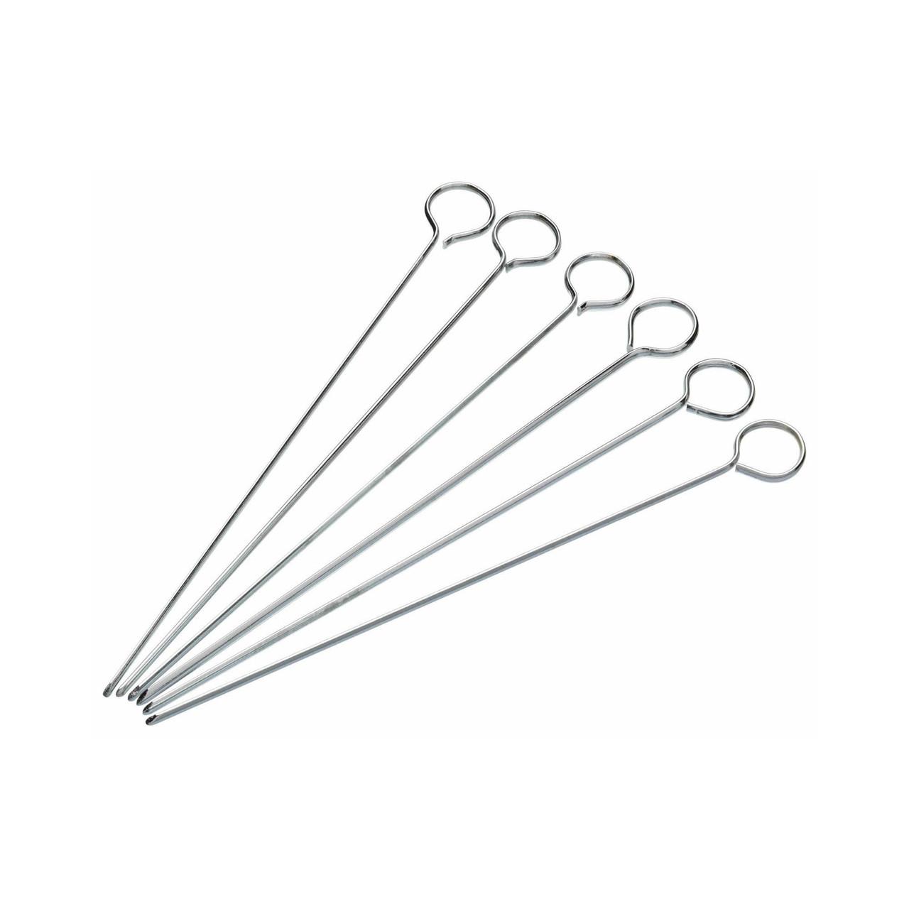 Skewers - 6 Flat Metal Brochette 20cm