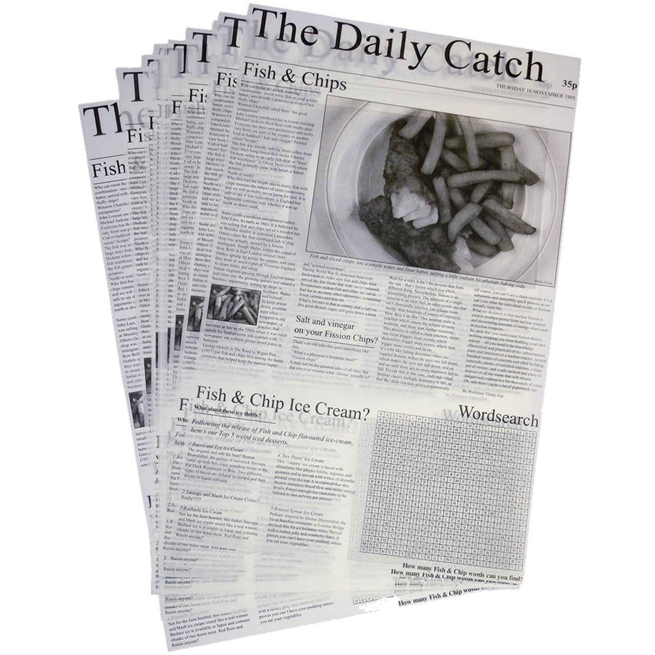 Greaseproof Sheets x 20 - Daily Catch