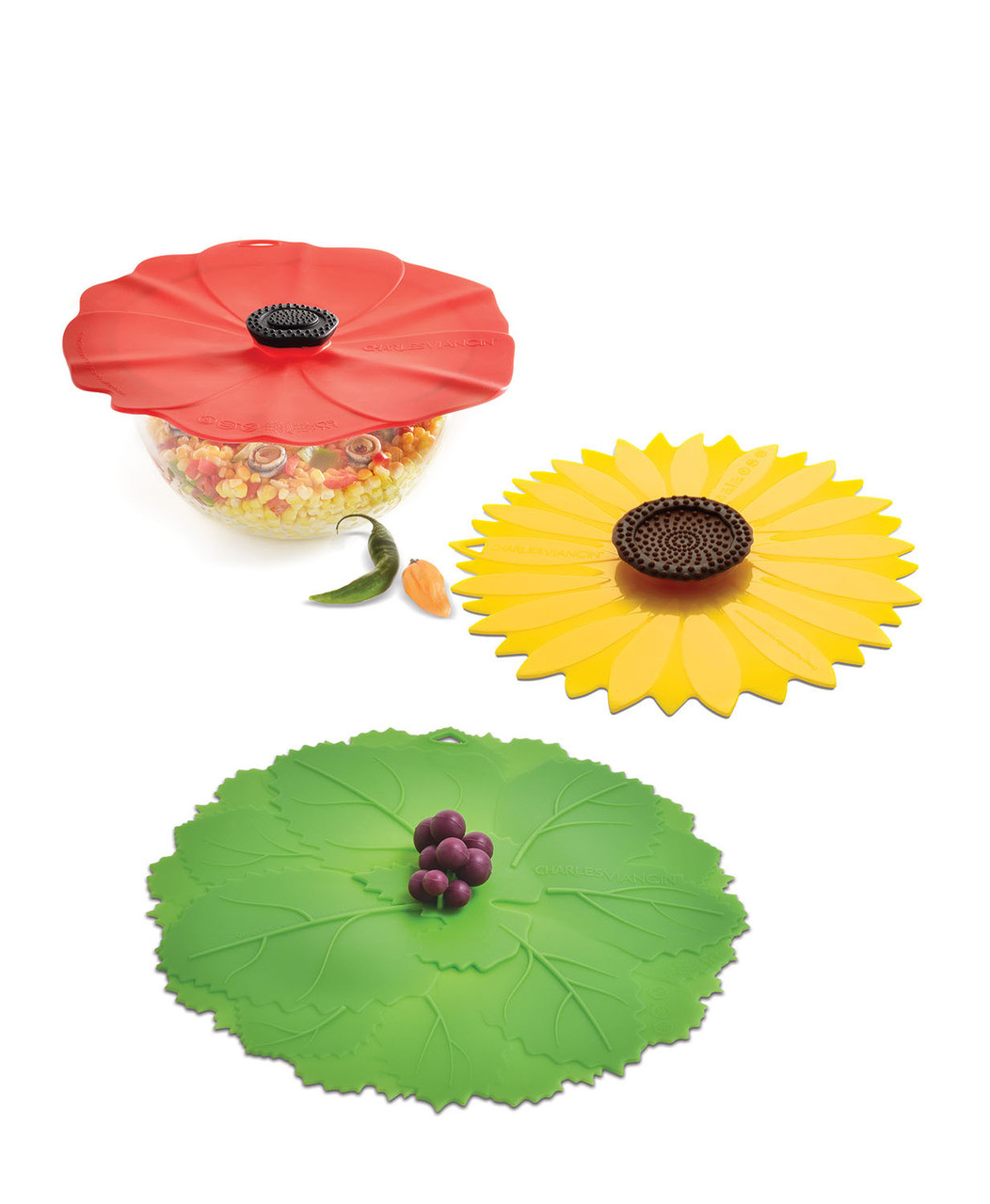 Charles Viancin Silicone Hibiscus Lid 20cm