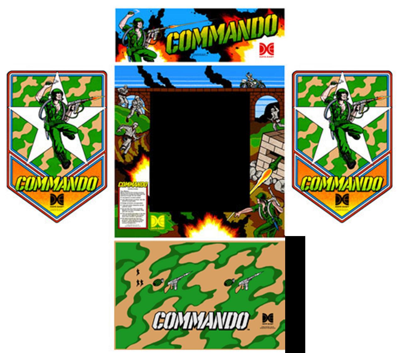 Data East Commando Arcade Control Panel Overlay