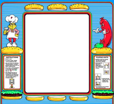Burgertime Upright Monitor Bezel Graphic