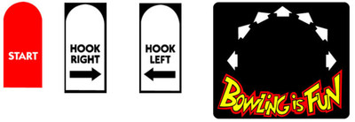 Capcom Bowling Control Panel Overlay stickers