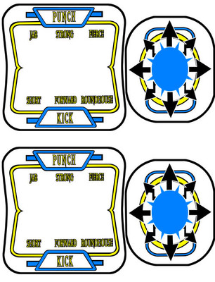 Capcom Joystick and Button Control Panel Overlays