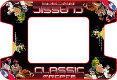 Classic Arcade custom Cocktail Bezel Underlay