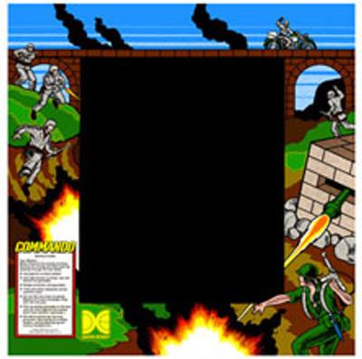 Commando Upright Monitor Bezel Graphic