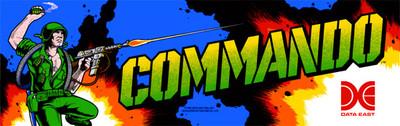 Commando Video Arcade Marquee