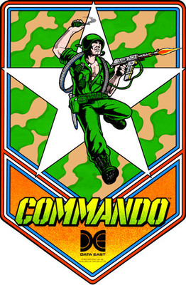 Commando Video Arcade Side Art