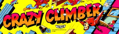 Crazy Climber Video Arcade Marquee