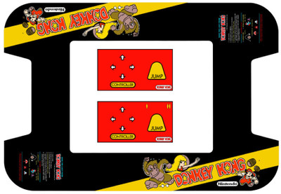 Donkey Kong Midway Cocktail Bezel underlay and CPO kit