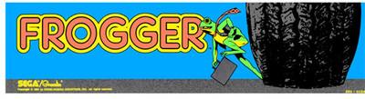 Frogger Video Arcade Marquee