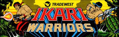 Ikari Warriors Video Arcade Marquee