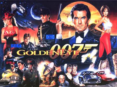 James Bond Goldeneye Pinball Translite