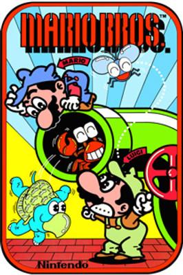 Mario Brothers Video Arcade Side Art