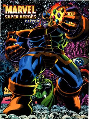 Marvel Super Heroes Video Arcade Side Art