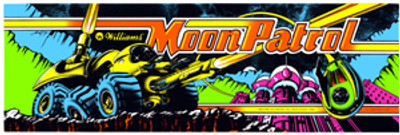 Moon Patrol Video Arcade Marquee