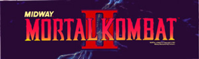 Mortal Kombat 2 Video Arcade Marquee